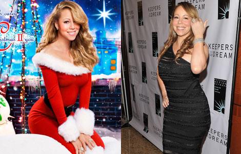 Photoshop fail: Mariah Carey's Christmas album cover