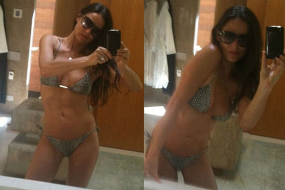 Demi Moore pretty much lived on Twitter in 2010. These bikini snaps got her plenty of attention.