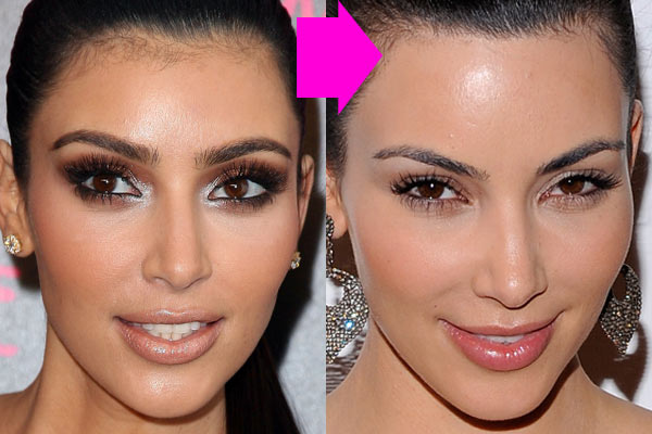 Hair-phobic: Kim Kardashian used to wax her forehead