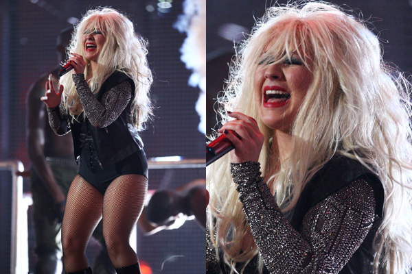 Christina Aguilera at the 'Michael Forever' tribute concert