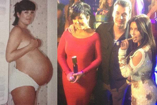 Jenner nude pregnant kris