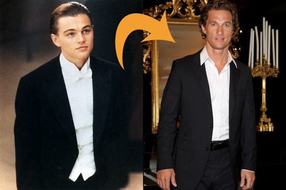 Weird <i>Titanic</i> fact #1: <b>Matthew McConaughey</b>, aka America's answer to Fabio, wanted to play the sweet, soppy role of Jack, which of course ended up going to the, well, suitably sweet and soppy <b>Leo</b>.