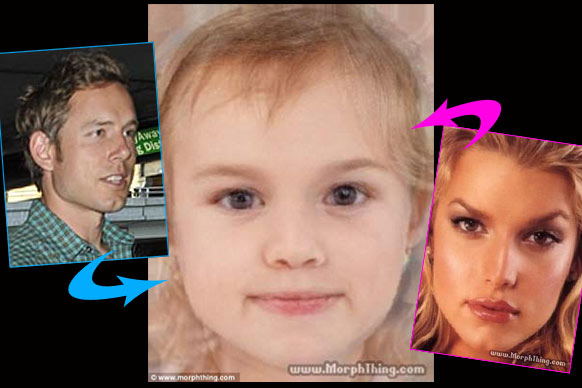 "See what the stars' babies would (or will) look like.<br/><br/>Pics created on <a href=""http://www.morphthing.com/"" target=""new"">MorphThing.com</a><br/>"