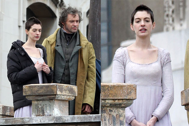 First pics: Anne Hathaway's drastic weight loss for role in Les Miserables