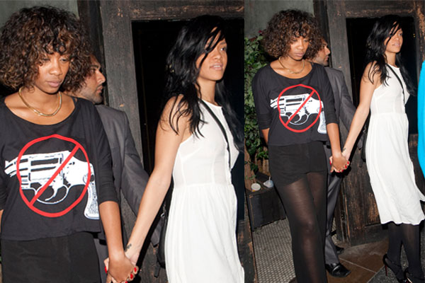 Rihanna dating a girl