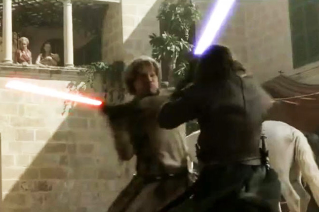 Awesome: <i>Game of Thrones</i> with lightsabers