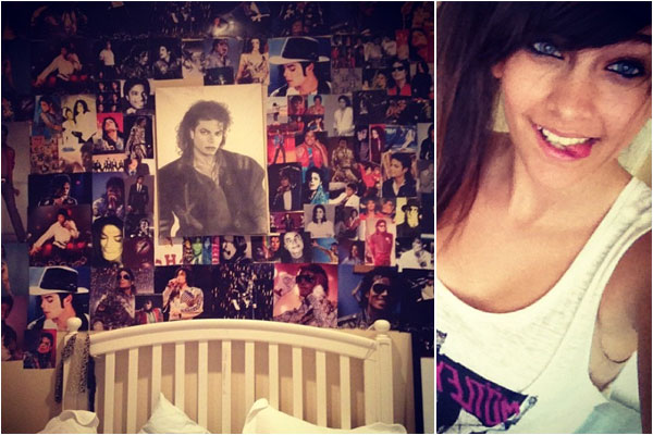 Paris Jackson tweets pic of bedside shrine to Michael