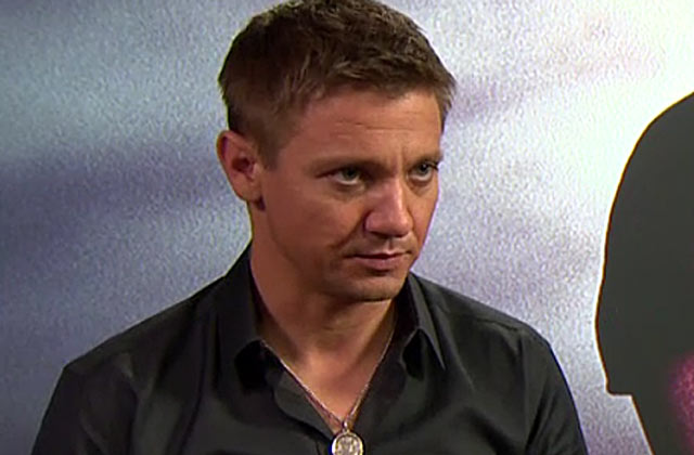 Jeremy Renner with The Bourne Legacy director Tony Gilroy