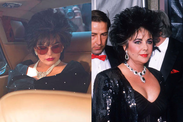 Fab or drab? Lindsay Lohan as '80s Liz Taylor