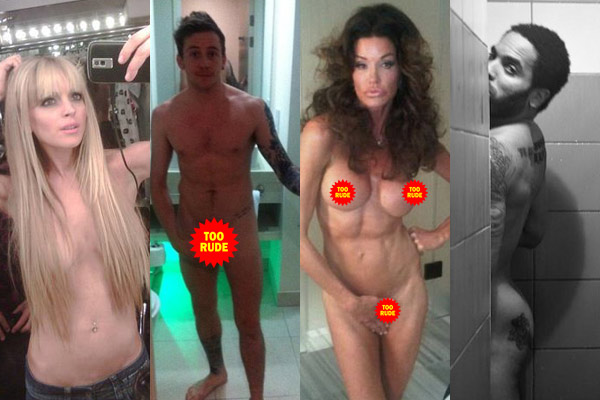In pics: Celebs who stripped for Twitter