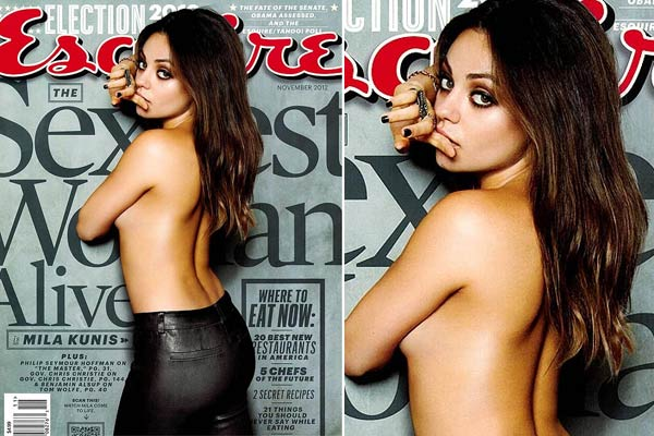 Mila Kunis named Sexiest Woman Alive, poses topless to prove it