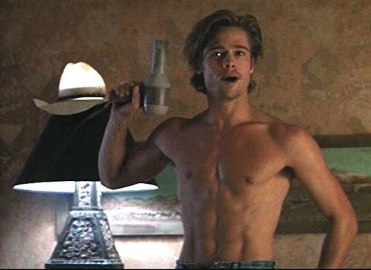 Brad claimed his Hollywood hunk status after his appearance as wavy-haired drifter and hustler JD in 1991's Thelma and Louise.