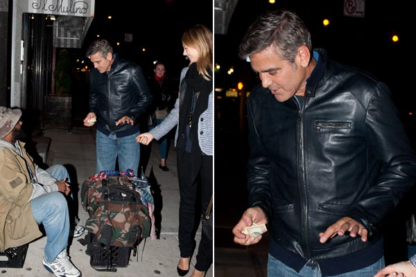 George Clooney still a nice guy, gives money to homeless man