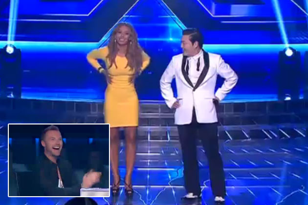 Guy Sebastian jokes about Mel B dancing 'Gangnam Style' commando