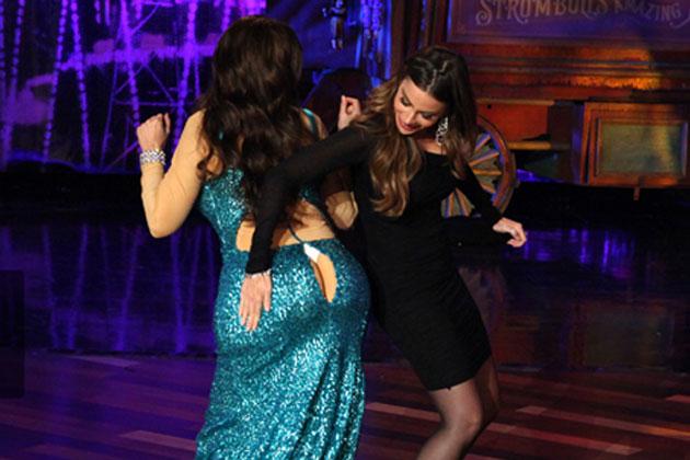 Watch: Ellen re-enacts Sofia Vergara's Emmys butt cleavage saga