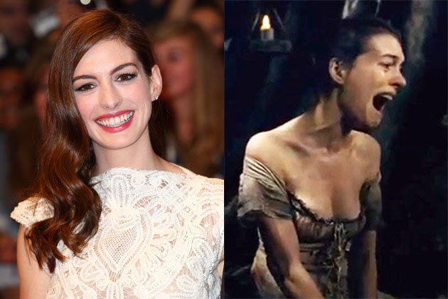 Anne Hathaway's transformation in Les Miserables