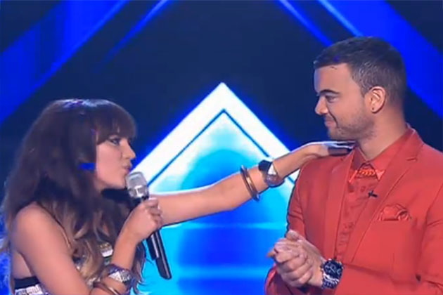 Friendly competition: Guy Sebastian and Samantha Jade