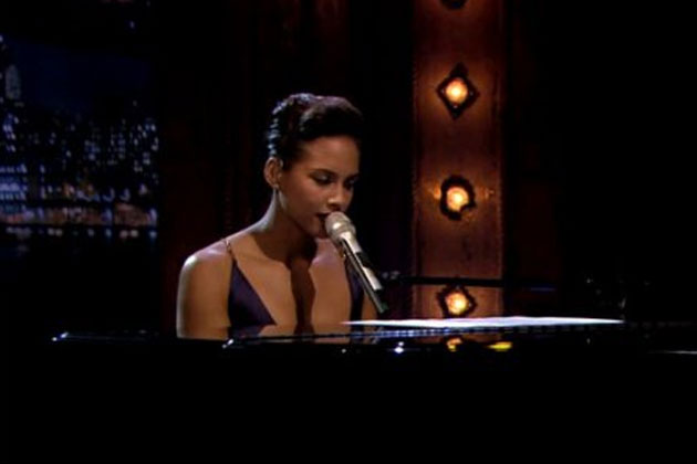 Alicia Keys covers the <i>Gummi Bears</i> theme