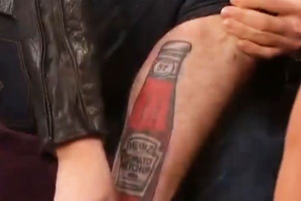 Twilight star's ketchup tattoo revealed