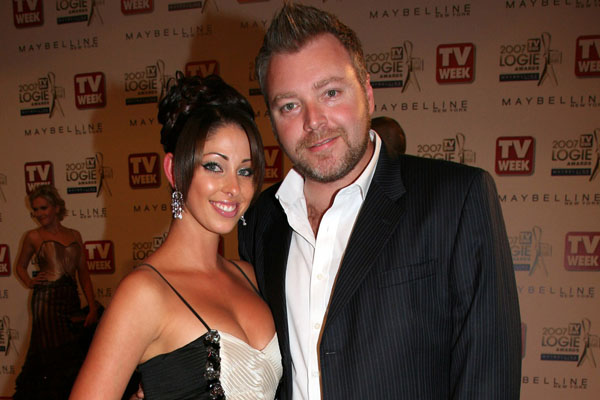 Tamara and Kyle at the Logies in 2007