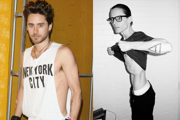 Wasting away: Jared Leto reveals scary-skinny body after ... Jared Leto Weight