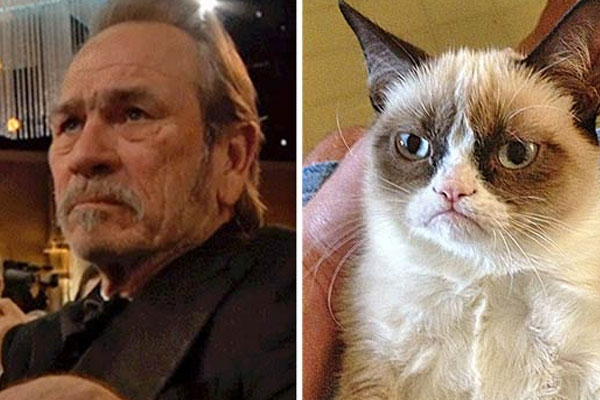 Watch: Tommy Lee Jones is the ultimate real-life 'Grumpy Cat'