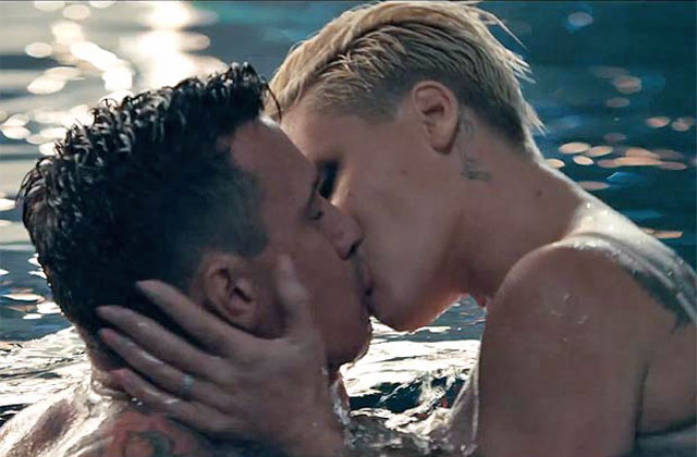 Watch: Pink pashes buff husband in new clip 'Just Give Me A Reason'