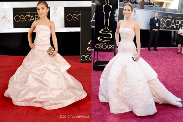 Hey there, Mini-Me: Kids recreate 2013 Oscars red-carpet looks