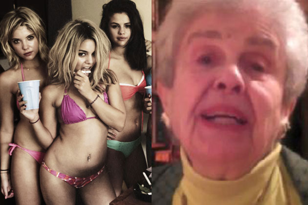 Watch: James Franco's grandmother promotes <i>Spring Breakers</i>