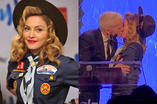 Watch: Madonna goes Boy Scout to protest gay ban, pashes gay TV anchor
