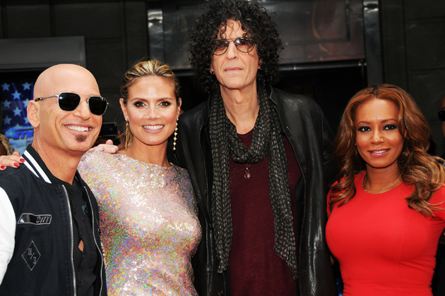 America's Got Talent judges Howie Mandel, Heidi Klum, Howard Stern and Mel B attend the season 8 meet the judges red carpet in New York City on April 9.