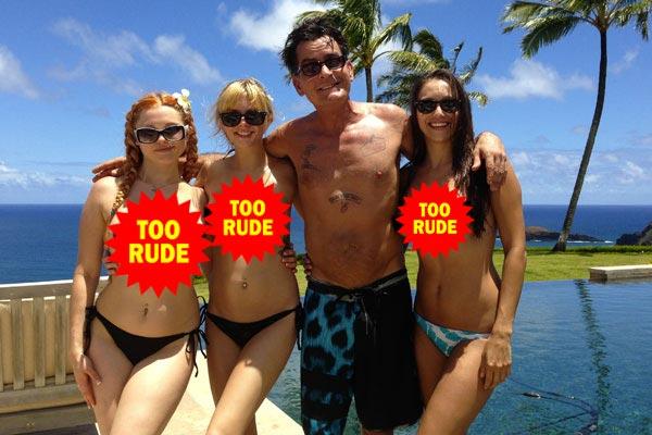 charlie sheens women nude