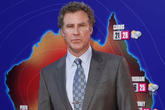 Will Ferrell keeping guests updated on the weather
