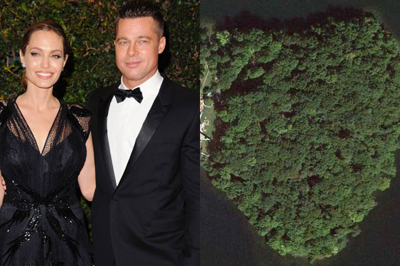 Angelina Jolie reportedly bought her hubby Brad Pitt a $21.5 million heart-shaped island for his 50th birthday! The actress also gave him an olive tree worth $18,500 AND a waterfall! <br/><br/>If this doesn't make you envious enough, then flick through our list of the most excessive celebrity pressies ever...