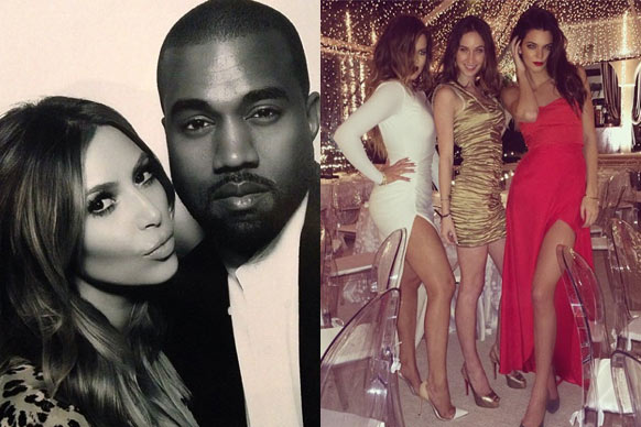 Naughty and nice! The Kardashians' Christmas party Insta-snaps