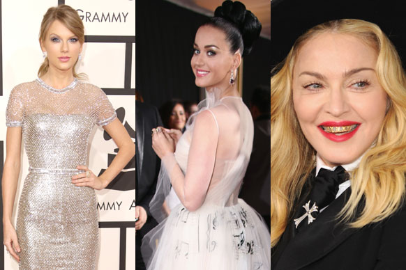 Check out all the fashion from the 56th Annual GRAMMY Awards red carpet...