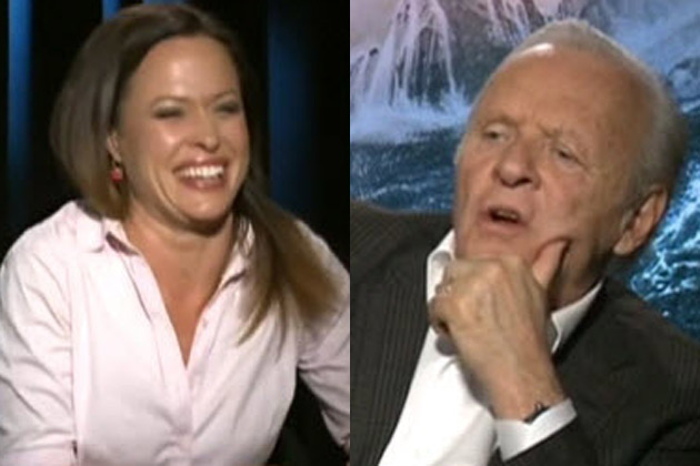 Anthony Hopkins hits on Seven reporter: 'You look like Angelina Jolie'