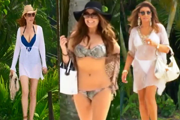 Wowsers real housewives of melbourne show off bikini for Pool show in melbourne