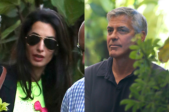 TheFIX has all the pics from George Clooney and Amal Alamuddin's engagement party - happening right now in Malibu!<br/><br/>Serial dater George has finally found The One - and he's not wasting any time making it official! He got engaged to human rights lawyer Amal Alamuddin two weeks ago and now its time to celebrate.<br/><br/>Click through to see all the A-list guests as they toast the happy couple. Congrats guys!