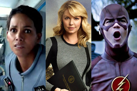 """The US networks are currently unveiling their big shows for the second half of the year... and TheFIX is brimming with geeky excitement at the first-look trailers!<br/><br/>There's Halle Berry in Steven Spielberg's space thriller <i>Extant</i>, Katherine Heigl's return to TV in political drama <i>State of Affairs</i> and serious superhero action in <i>Batman</i> spin-off <i>Gotham</i> and <i>Arrow</i> spin-off <i>The Flash</i>.<br/><br/>Let's cross our fingers all of these make their way to Oz.<br/><br/>Author: Adam Bub. <b><a target=""""_blank"""" href=""""http://twitter.com/TheAdamBub"""">Follow me on Twitter</a></b>"""