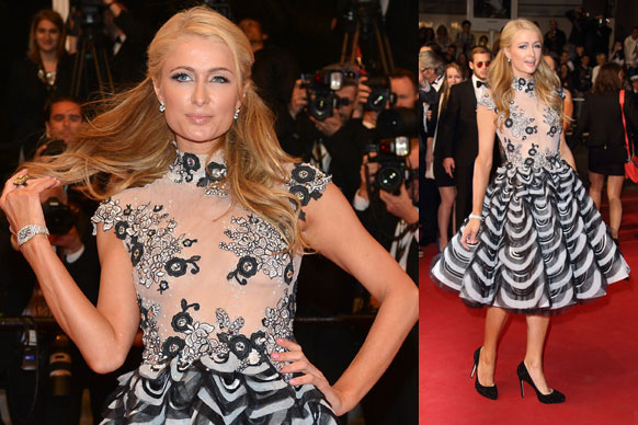 All the money in the world and Paris Hilton rocks up to the Cannes premiere of Aussie-made flick <i>The Rover</i> in this mish-mash of an outfit. WTF?! Why is she even there?<br/><br/>Flick through to see more of the best and worst fashion moments of Cannes 2014 in our gallery...<br/><br/>Images: Getty