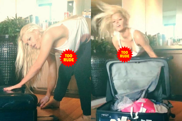 Watch: Sophie Monk's nipple slip while dancing vigorously with a bag!