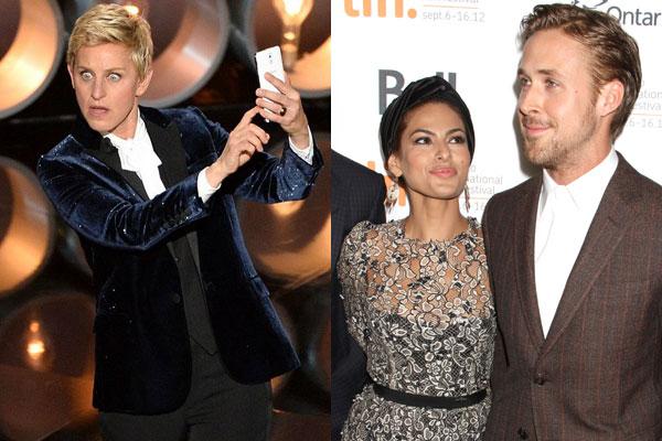 Eva Mendes, Ryan Gosling, Ellen DeGeneres