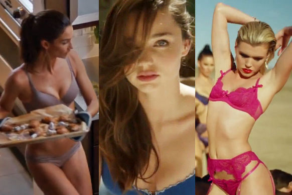 In the latest commercial for Victoria's Secret, model Lily Aldridge shows off her impressive… cooking skills. But instead of wearing an apron in the kitchen, she just takes off her clothes when she spills food on herself, as you do!<br/><br/>It's the latest in a long line of commercials featuring celebs in their undies, selling undies.<br/><br/>In honour of Lily's most recent effort, we've collected our favourite celebrity-endorsed underwear ads here. You're welcome!<br/><br/>