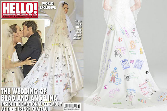 Angelina Jolie's wedding veil drawings 'explained' in ...