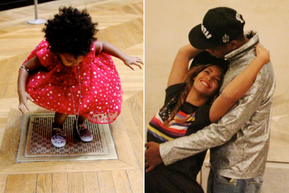 Move over, Mona Lisa — Blue Ivy is the new lady of the Louvre.<br/><br/>Beyonce and Jay Z took their two-year-old daughter to the famous museum in Paris... and she couldn't have been any more adorable.<br/><br/>Proud mama Bey shared shots from the family outing on her website, with Blue playing in a polka-dot dress while Bey and Jay get all lovey-dovey. It's a tough life being a Knowles-Carter, right?<br/><br/>Scroll for all the cute pictures...<br/><br/>Images: Beyonce. Author: Adam Bub.