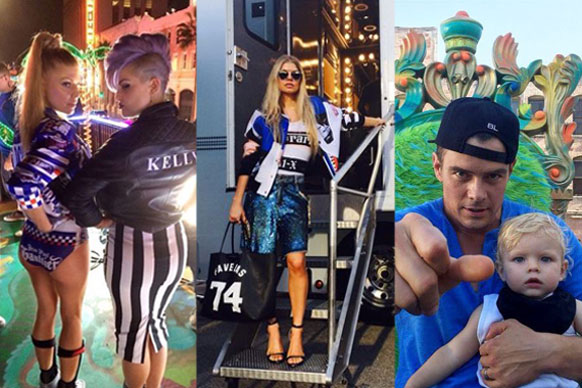 It's been far too long between solo singles for Black Eyed Peas front woman Fergie... We guess getting married and having a kid takes up a lot of time and energy. <br/><br/>Now, Fergie Ferg is back and looking hotter than ever!<br/><br/>The feisty femcee treated fans to a behind-the-scenes look at her new video for 'L.A.LOVE', with special guest appearances from the likes of pal Kelly Osbourne, son Axl and hubby Josh Duhamel. Cuuuuute! <br/><br/>Click through to see the pics and preview the new track.