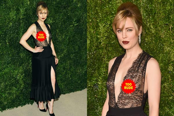 Melissa George flashes nipples at swanky <i>Vogue</i> dinner