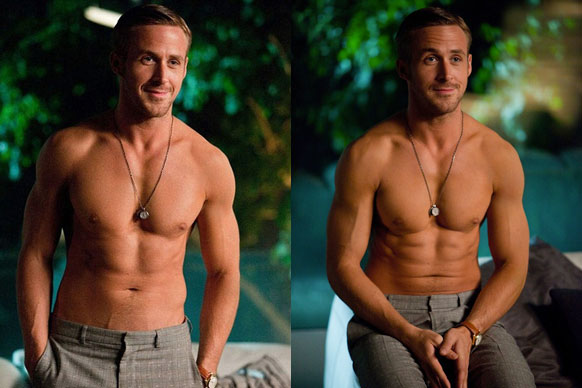 Ryan Gosling turns 34 today. Since we can't help him blow out his candles (lucky Eva Mendes!), we'll celebrate with 34 hot Gos shots past and recent. <br/><br/>You're welcome! <br/><br/>Images: Getty, Radius-TWC, Warner Bros.