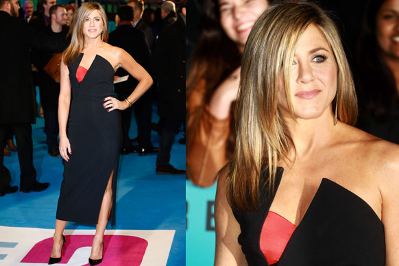 "<b>Jennifer Aniston</b> put the ""red-hot"" into red carpet at the world premiere of <i>Horrible Bosses 2</i> at the Odeon Leicester Square, London. Hello, we can see your red bra-top Jen!<br/><br/>With fiancé <b>Justin Theroux</b> nowhere to be seen, the 45-year-old star celebrated with her co-stars <b>Jason Bateman</b>, <b>Charlie Day</b> and <b>Jason Sudeikis</b> (and his gorgeous fiancée <b>Olivia Wilde</b>).<br/><br/>It's one sizzling red carpet... check out all the pictures here.<br/><br/>Images: Getty/AAP<br/><br/>Author: Adam Bub. <b><a target=""_blank"" href=""http://twitter.com/TheAdamBub"">Follow on Twitter</a></b>. Approved by Amy Nelmes."